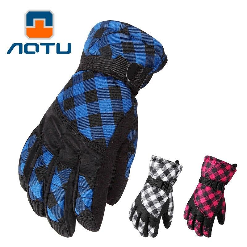 NEW 2018 Outdoor thicken gloves ride mountain wind female waterproof warm fleece fishing skiing mountain climbing