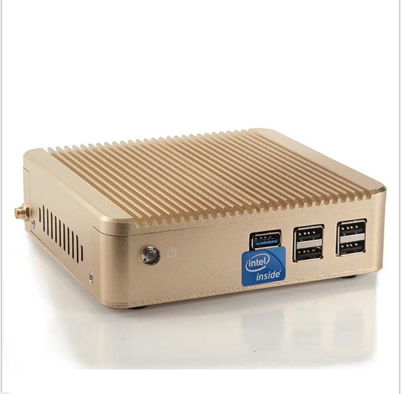 Мини pcceleron J1900 Quad Core настольного компьютера 5 * USB HDMI VGA Оконные рамы 7/8/10