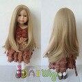Мягкий естественный Цвет Прямо Синтетический Парик Волос для 18 ''Высота Американская Девушка Кукла с 26 см Окружность Головы