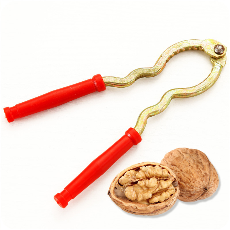 High-Quality Multifunction Go Walnut Clip, Iron + Plastic Flake Nut Shell Tools,