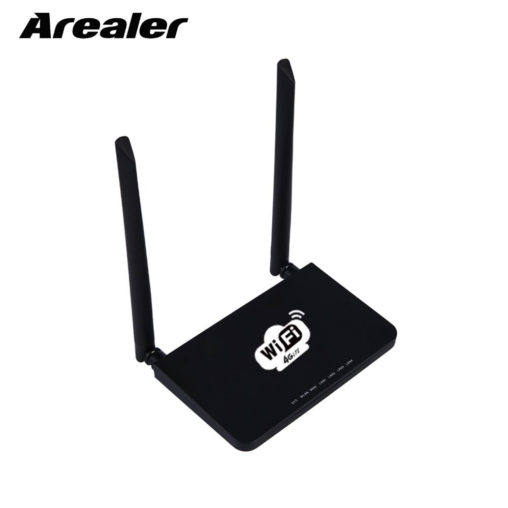 Arealer Router 4G Wireless Wifi Router LTE 300Mbps Mobile Portable Hotspot with SIM Card Slot EU