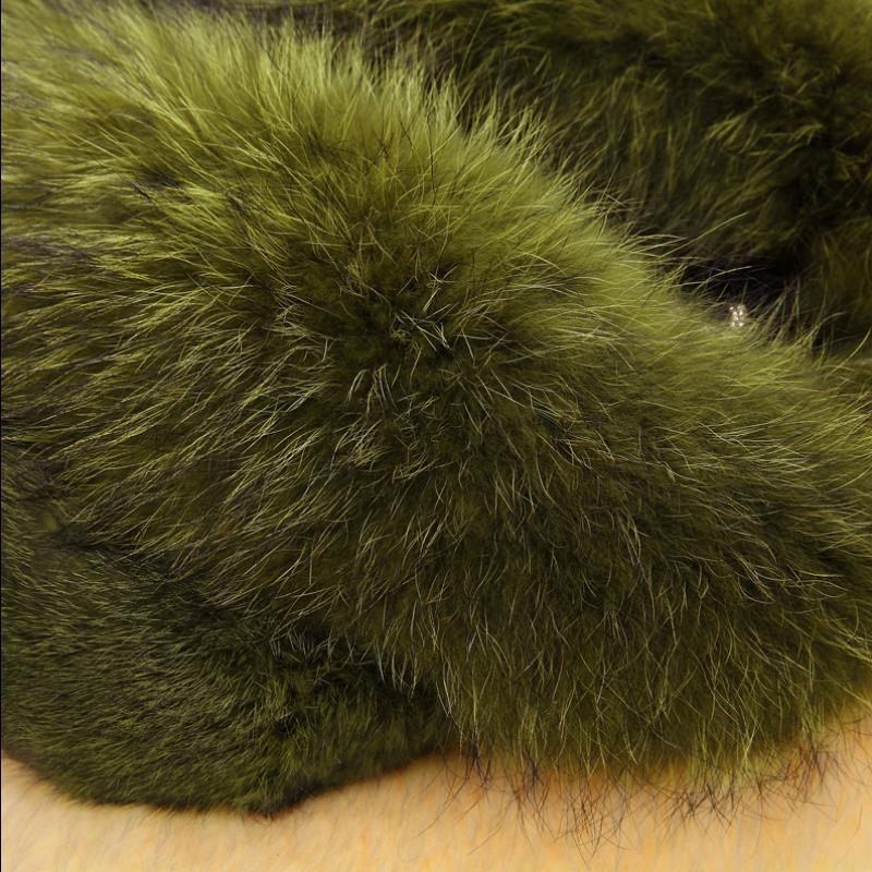 LZJ fashion ladies leather rabbit fur raccoon hair winter jacket natural fox fur collar long coat large size long sleeve coat