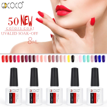 CANNI Gel Supply Langvarig Gel Nail Polish Poly GDCOCO Soak Off UV LED Gel Varnish Color Coat Polsk Gel Tops Nail Art
