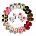Nuevos niños zapatos borla de Cuero de LA PU Bebé Recién Nacido/Niñas Mocasines Soft Moccs Zapatos Bebe Franja Suela Blanda No-Calzado antideslizante