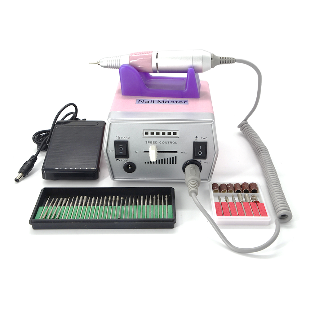 Free shipping/Drop 110V/220V Electric Nail drill Manicure machine Pedicure Drill File Tool Kit 12V free shipping drop shipping electric manicure pedicure nail drill