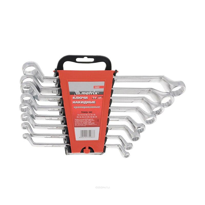 Wrench set MATRIX 15332 newacalox multitool pliers pocket knife screwdriver set kit adjustable wrench jaw spanner repair survival hand multi tools mini