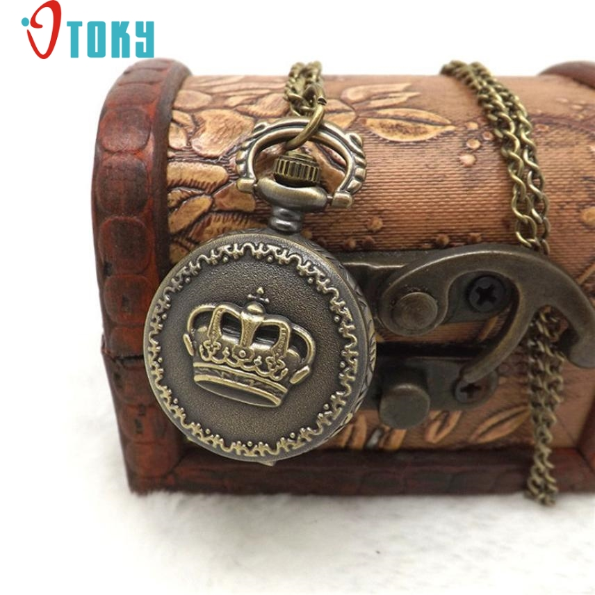 OTOKY Hot Unique  Pocket Fob Watches Fashion Vintage Retro Bronze Quartz Pocket Watch Pendant Chain Necklace Drop ship F20 goorin bros goorin bros 603 0005 oli
