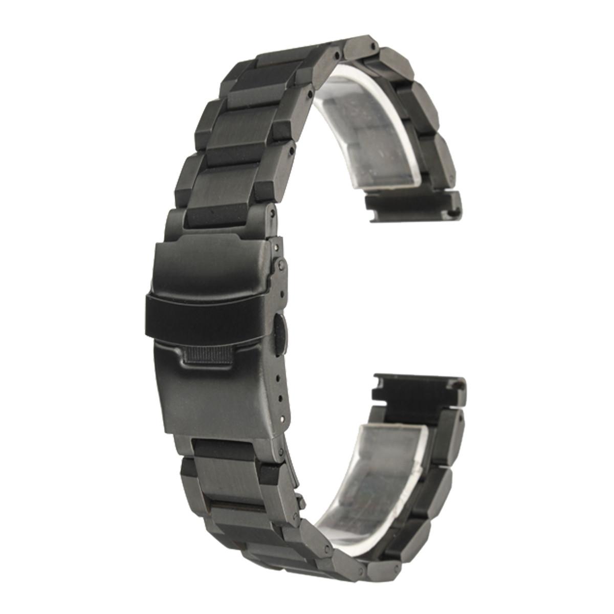 Prix pour Bracelet Vente Chaude 24mm Or Métal Brossé Montre Bracelet En Acier Inoxydable Bracelet Double Flip Serrure Boucle En Gros