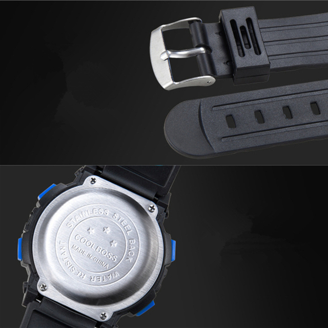Fashion Coolboss Brand Children Watches LED Digital Kids Watches Boys And Girl Student Multifunctional Quality Wristwatches Hot