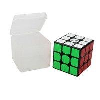 QiYi MOFANGGE Klassieke Speelgoed Cube 3x3x3 PVC Sticker Blok Puzzel Speed Cube Leren & Educatief Puzzel Cubo Magico Speelgoed Met DOOS