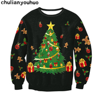 Christmas Patton Sweater Santa Claus Cute Print Pullover Sweater Jumper Outwear Women S Patterns Of Reindeer
