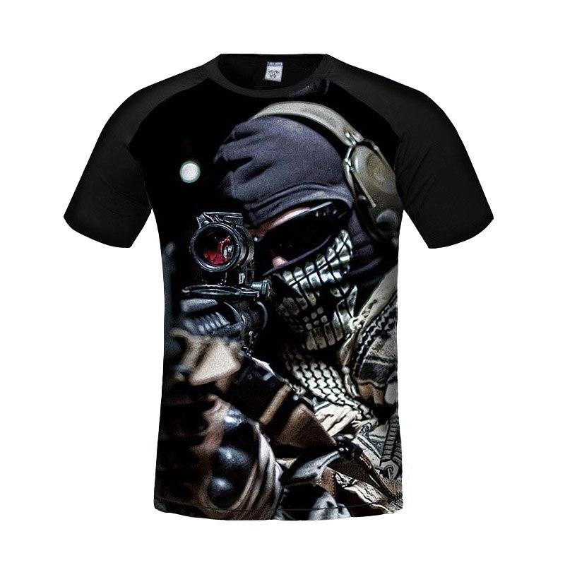 2017 Summer Personalized 3d Game T Shirt Men Short Sleeve O-Neck T Shirt Cool Sniper Printed T Shirt Slim Brand Men T-Shirt