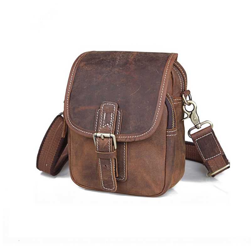 9d7f241f9592 Baigio Men Leather Shoulder Bags Vintage Brown Ialian Leather Crossbody  Bags Brand Designer Male Travel Waist Packs Belt Bag on Aliexpress.com