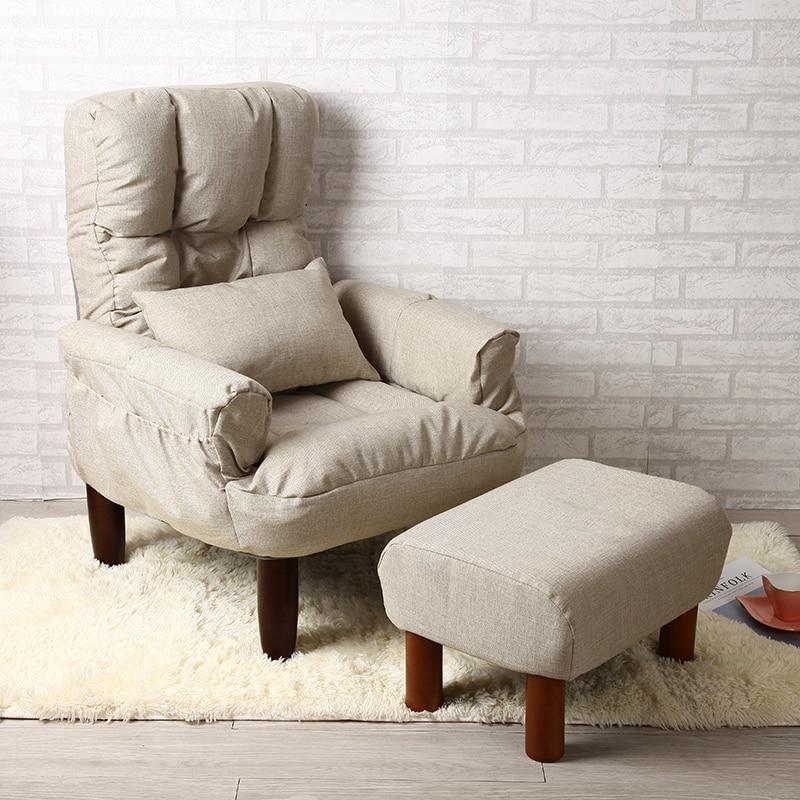 Moderne Wohnzimmer Stuhl Und Ottomane Stoff Polster Mbel Schlafzimmer Lounge Liege Sessel Mit Hocker Akzent