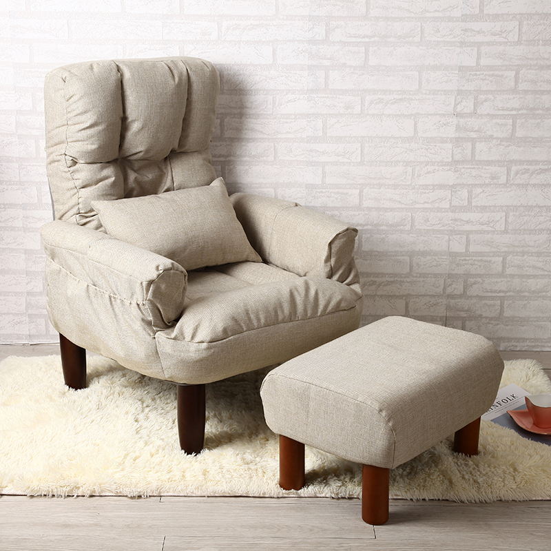 Modern Living Room Chair And Ottoman Fabric Upholstery Furniture Bedroom Lounge Reclining Armchair with Footstool Accent Chair  цены