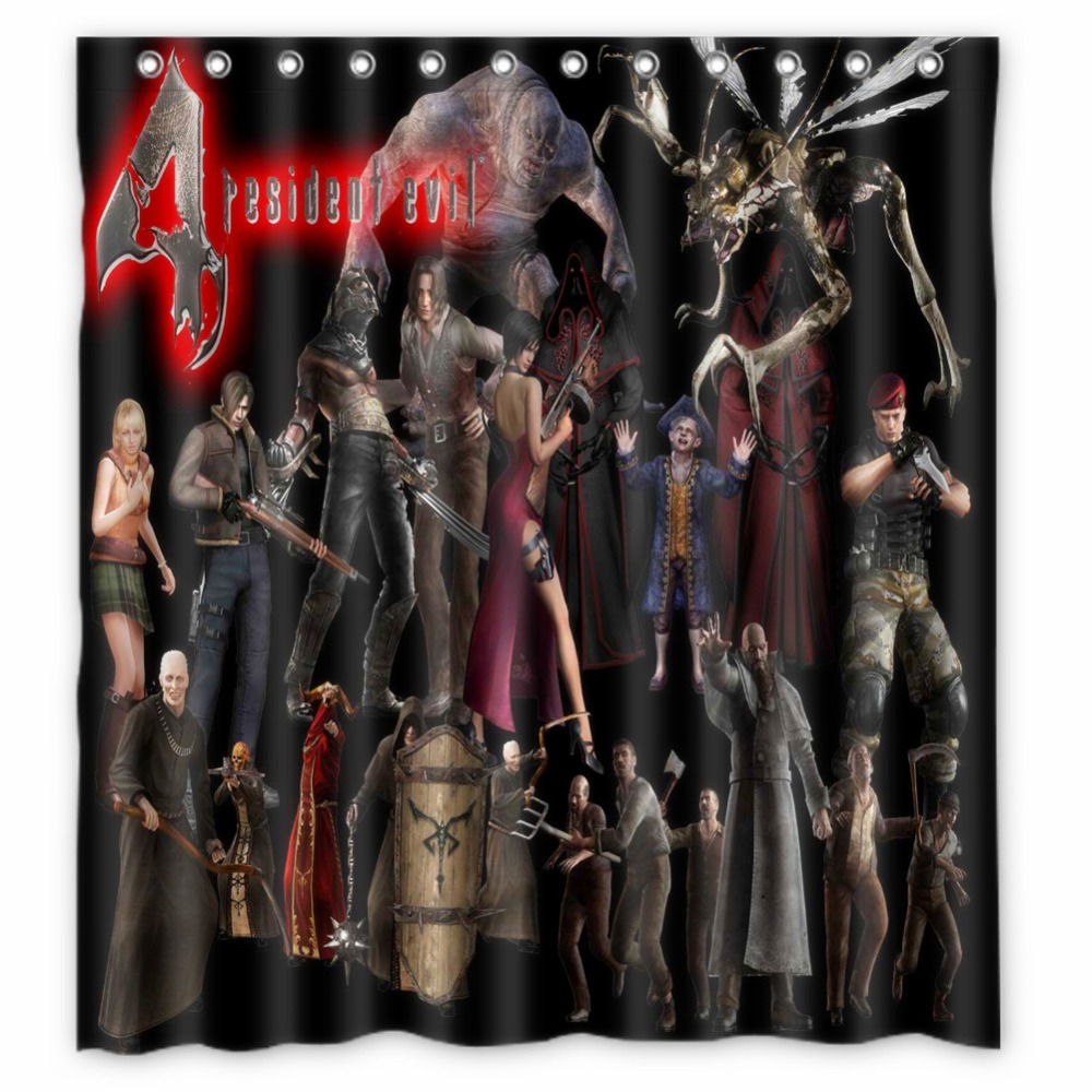 Anime Shower Curtain One Piece Dragon Ball Z Bleach Fairy Tail Naruto  Together Resident Evil 4