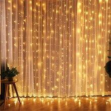 Сказочный светодиодный светильник сосулька 3x3, вилка европейского стандарта, СВЕТОДИОДНАЯ Гирлянда занавеска, рождественское наружное/внутреннее украшение для рождества, свадьбы, Хэллоуина