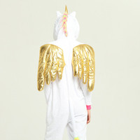 a3c416b3f5 Gold Wing Unicorn Onesies Warm Sexy Pyjamas Funny Party Costume Hip Stitch  Zip 2019 Spring Top
