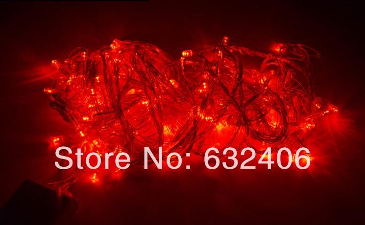 Waterproof 110V/220V 10m 100LEDs Red Color LED String