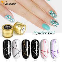 2019 plus récent dessin peinture Gel araignée Gel conception d'art des ongles couleur Pure tremper UV LED 3D gaufrage gelée verre ruban peinture Gel