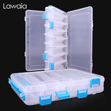 Lawaia Fishing Box Double Open Multifunctional Transparent Baits Accessories Double-layer Fake Bait Minor Sequin Storage