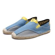 Fashion Sneakers 2019 New Flats Canvas Shoes Men Loafers Linen Men Hemp Shoes for Men Espadrille Fisherman Shoes Chaussure Homme цена 2017