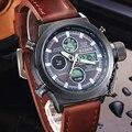 Reloj Hombre 2016 Relógios homens marca de luxo Esporte dive 50 m LED Militar relógios Genuínos relógios de quartzo mens watch Relógio Relogio Masculino