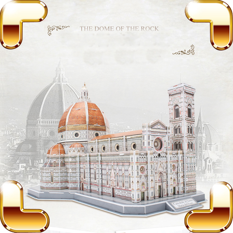 цены на New Arrival Gift The Dome Of The Rock 3D Puzzles Model Church Building Structure DIY Assemble Game Learning Toys Training Tool