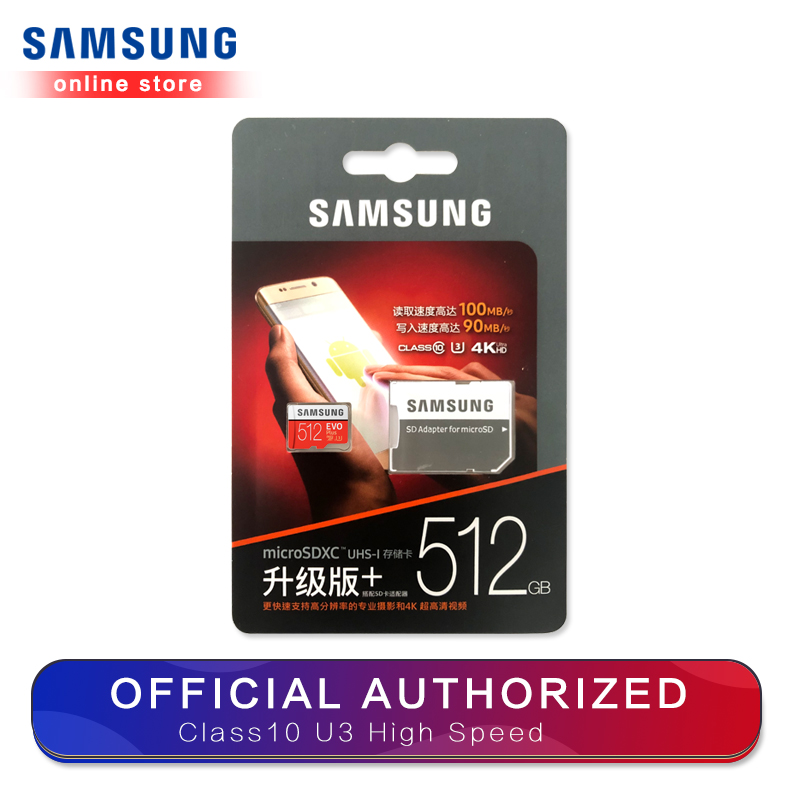 Carte mémoire Samsung Micro Sd Evo Plus 512 go Sdhc Sdxc Grade Class10 C10 Uhs-1 Tf cartes mémoire Flash 4k Microsd - 6
