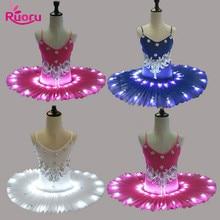 Ruoru Professional Led Ballet Tutu for Child Children Ballerina Dress Kids Girls Costume Swan Lake Party DanceWear