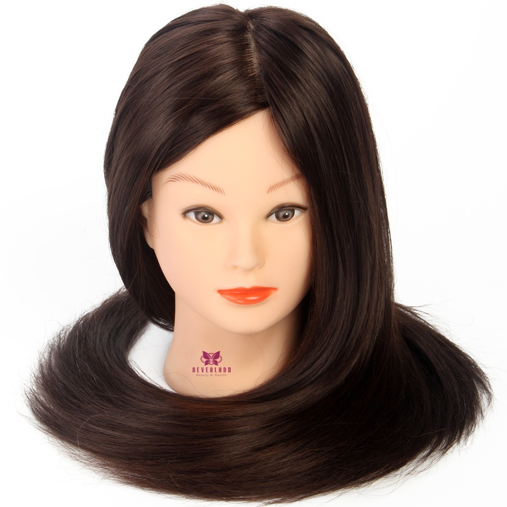 """Mannequin Head Salon 70% Real Hair 26"""" Training Hairdressing Practice Cosmetology Doll Heads Hair Styling + Free Clamp"""