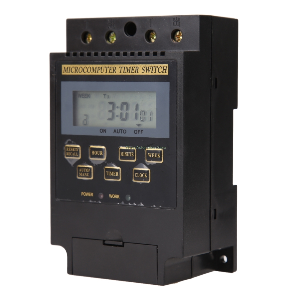 New KG316T AC 220 V 50 HZ/60 HZ 25A Din Rail Interruptor Temporizador Digital tp760 765 hz d7 0 1221a