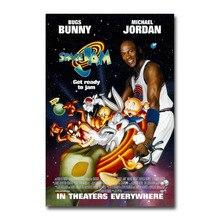 Póster Artístico de seda o lona con estampado SPACE JAM 1996 de Michael Jordan, película de 13x20, 24x36 pulgadas para decoración de habitación-001