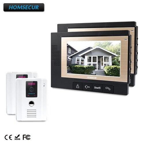 HOMSECUR 7 Видеодомофон Безопасности Интерком + IR Ночное видение для Дома/Квартиры: TC011-W + TM702-B ...