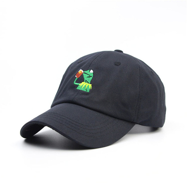 f20fe82af6515 dad cap new Championship hats frog tea Snapback Kermit hip hop hats  basketball baseball cap Daddy hats for men gorra bone