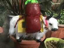 simulation animal white yak model toy polyethylene & furs yak hard model home decoration gift t203