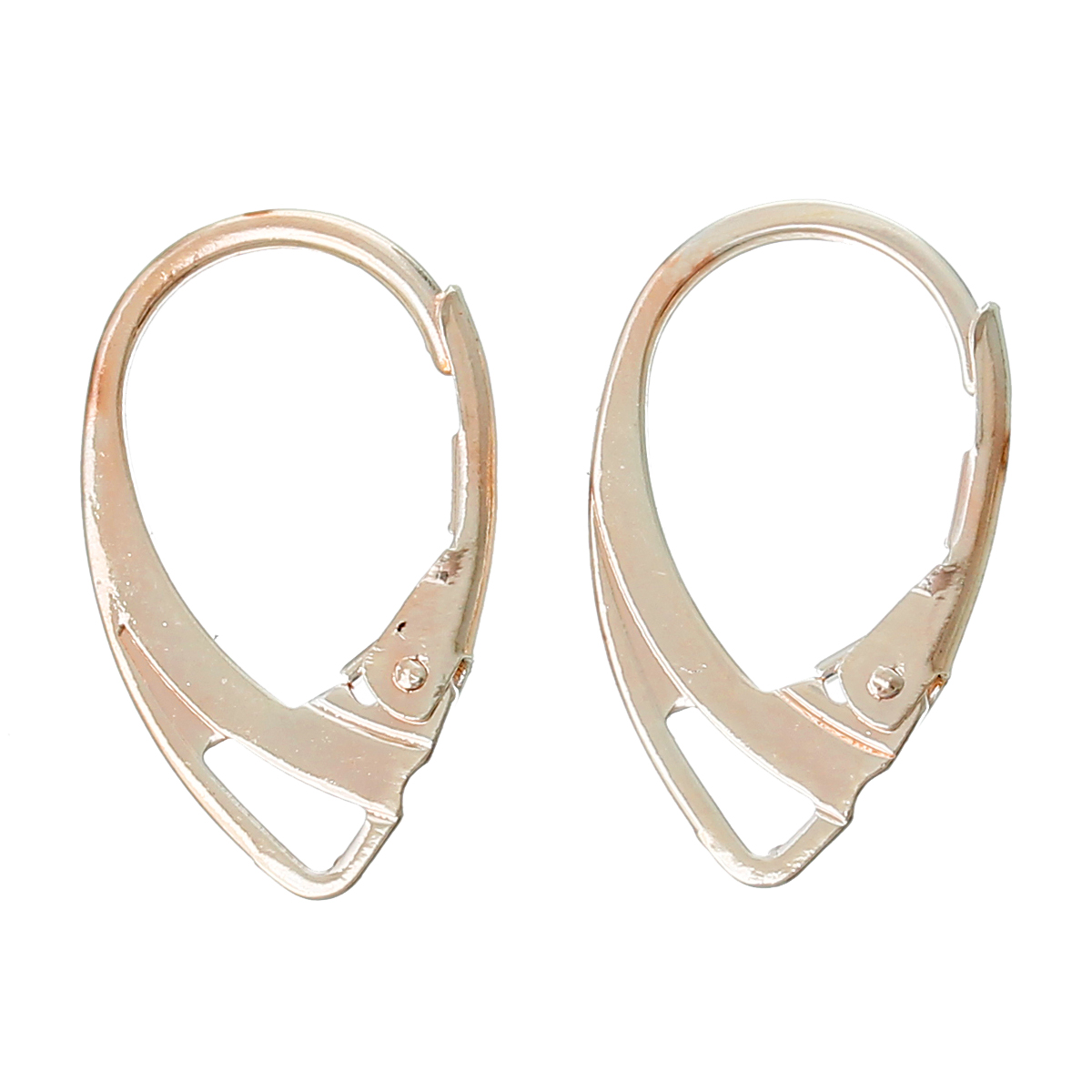 DoreenBeads Zinc metal alloy Earring Components Clips Earring Findings Rose golden 18mm( 6/8) x 11mm( 3/8), 2 Pieces 2017 new