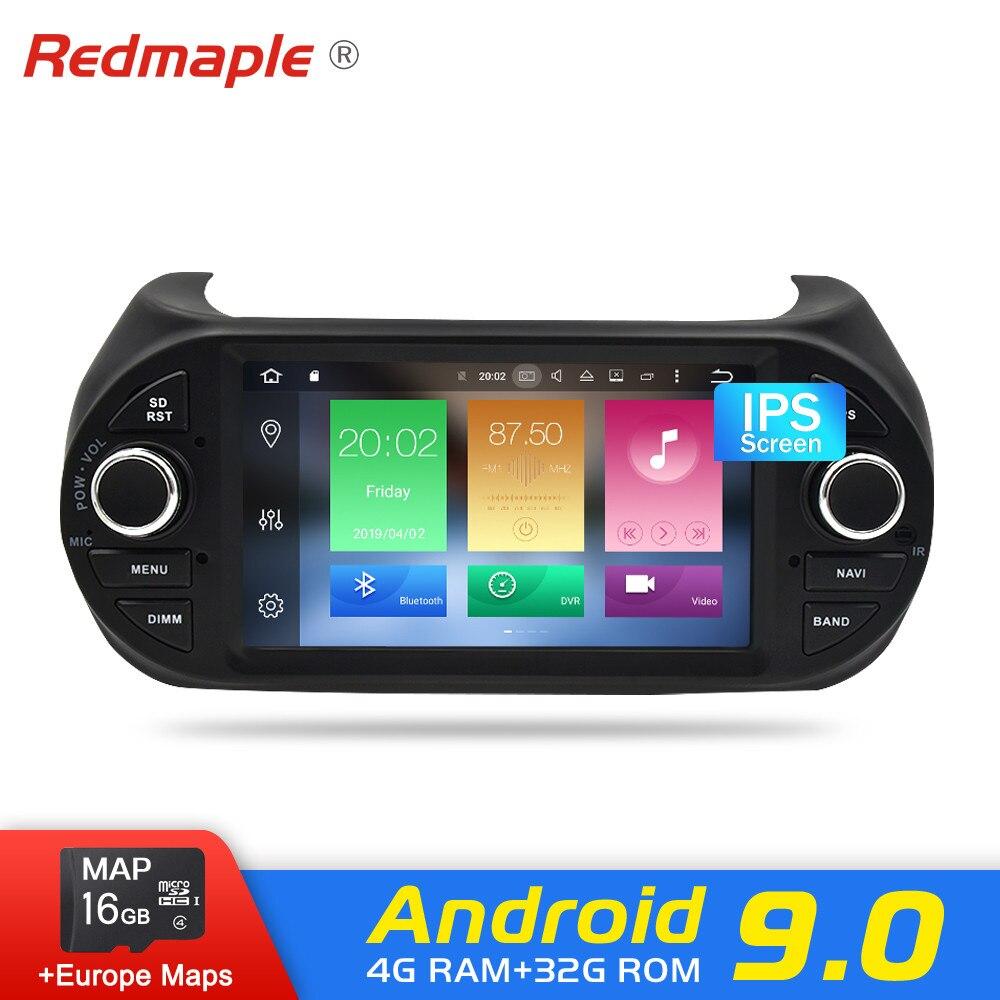 Android 9.0 Estéreo Do Carro dvd Rádio de Navegação GPS Para Fiat Fiorino Qubo Bipper Peugeot Citroen Nemo 2008-2010 2015 auto Multimídia