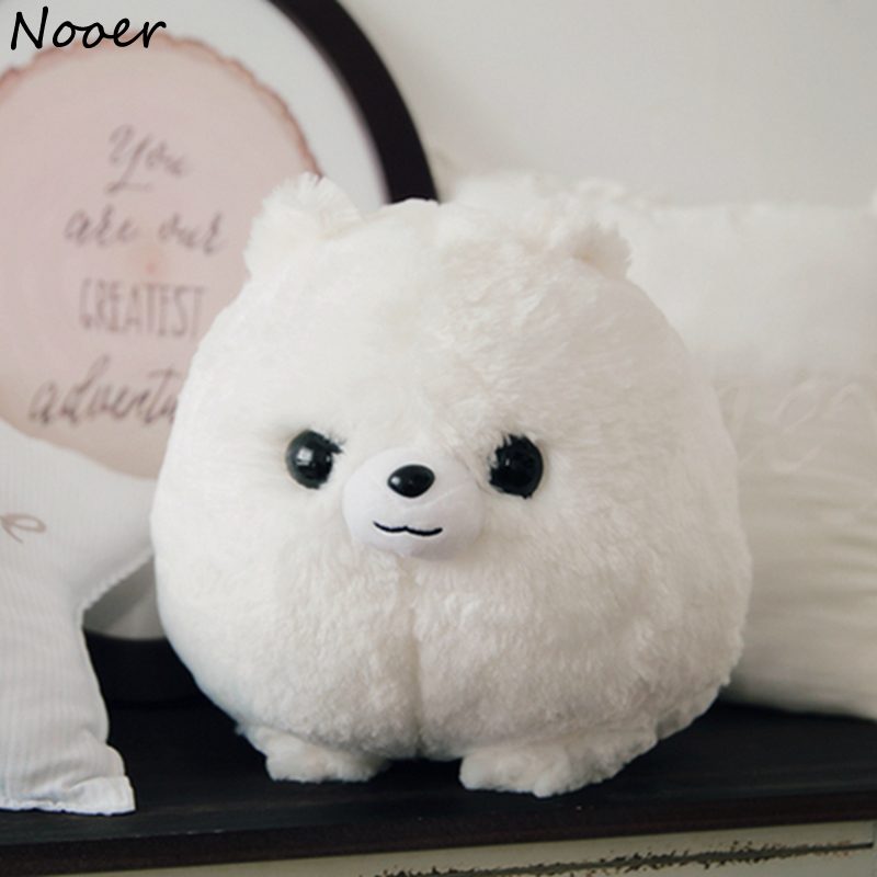 Nooer Kawaii Cartoon Dog Plush Toy Fluffy Soft Stuffed Animal Pomeranian Doll Lovely Dog Doll for Kids Children Girls Gift stuffed animal jungle lion 80cm plush toy soft doll toy w56