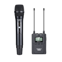 CoMica CVM WM200D Professional Video Microphone MultiChannels UHF Wireless Mic 1 Hand held Transmitter 1 Receiver 120M Recording