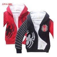 Kids Boys Halloween Spiderman Costume Black Red Sweatshirt Clothes Winter Hoodie Coat For Children 4 12