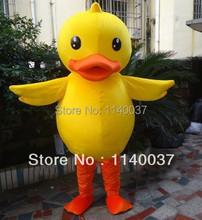 mascot  Hot Sale Big Yellow Duck Mascot Costume Best Price Famous Park Yellow Duck Mascotte Outfit Suit EMS FREE SHIPPING