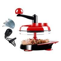 Manual Food Processor Hand Powered Miracle Baby Multi Vegetable Chopper Meat Grinder Fast Salsa Maker Food