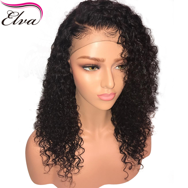 37d3a0f9bac US $51.76 50% OFF|Elva Hair 150% Density Lace Front Bob Wig 13x6 Pre  Plucked Deep Curly Brazilian Remy Lace Front Human Hair Wigs With Baby  Hair-in ...