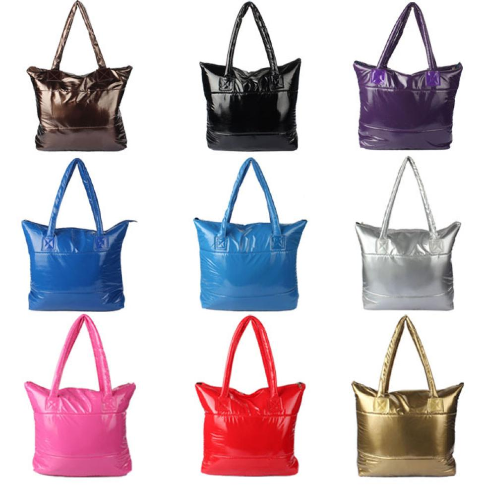 1PC luxury handbags women bags designer Girl Space Bale Cotton Totes Handbag Feather Down Shoulder Bag bolsos mujer bags
