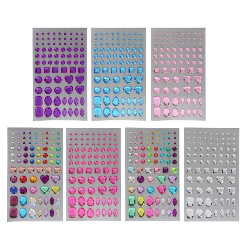 Self-adhesive Jewels Multicolor Rhinestone Sticker for Face Scrapbooking Decor