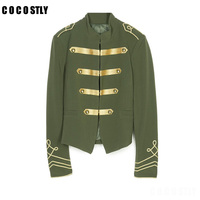 High Quality Short Jackets Women Palace Style Kimono Jacket Army Jacket women double breasted outerwear Chaquetas Etnicas Mujer