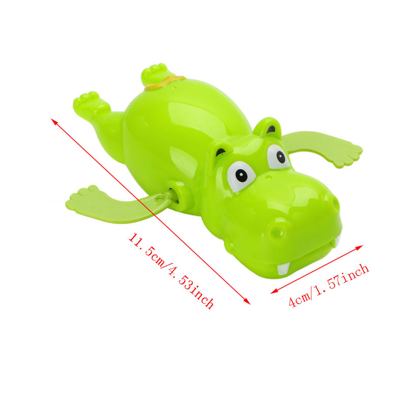 Lovely 1Pc Children Baby Bathing Float Hippo Animal Clockwork Dabbling Toy Funny
