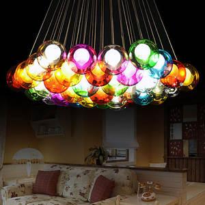 Top 10 most popular living room light chandelier designers brands ledg4 110 240 v creative design modern led colorful glass chandelier living room aloadofball Images