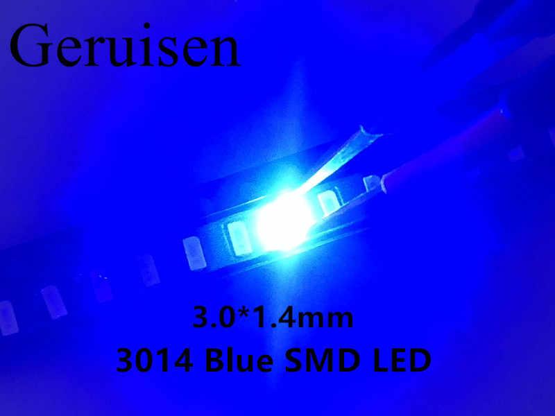 3014 niebieska dioda LED smd o wysokiej jasności emitująca 3014 diody świecące LED 20MA napięcie do przodu: 3.0-3. 3V 0.1W 220 ~ 250mcd Patch 50 sztuk